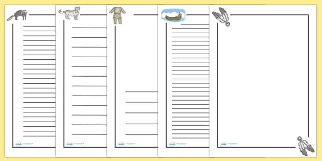 Native American Page Borders Native Americans page border a4 – Border Paper Template