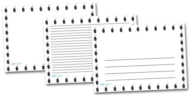 Computer Mouse Landscape Page Borders- Landscape Page Borders - Page border, border, writing template, writing aid, writing frame, a4 border, template, templates, landscape