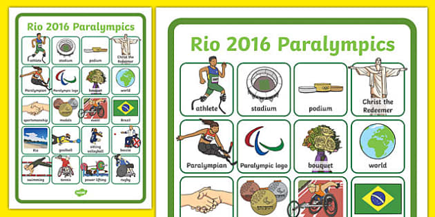 Paralympics Word Grid