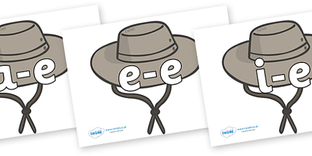 Modifying E Letters on Cowboy Hats - Modifying E, letters, modify, Phase 5, Phase five, alternative spellings for phonemes, DfES letters and Sounds
