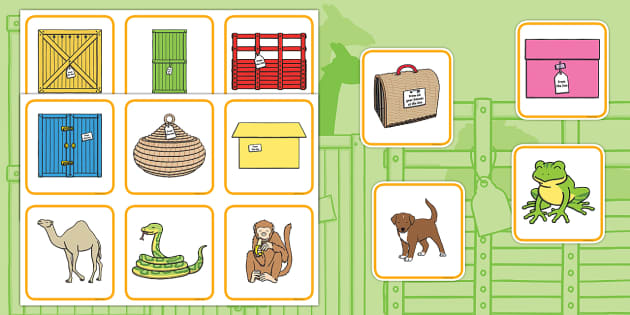 Matching Activity to Support Teaching on Dear Zoo - animals, comparing, match, KS1, key stage 1, eary years