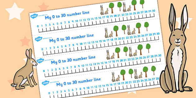 How Much Do I Love You Number Lines 0 30 - Much, Love, Number