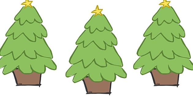 Decorated Christmas Trees Editable - christmas, display, editable