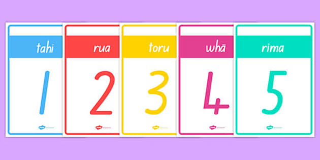 Numbers 1-10 Cards Te Reo Māori - nz, new zealand, numbers, te reo maori, māori, language