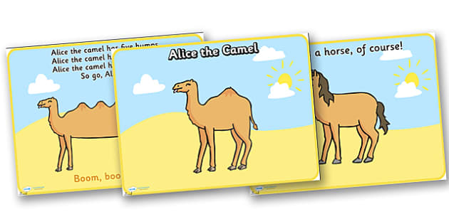 Alice the Camel PowerPoint - alice the camel, alice the camel powerpoint, song, childrens song, song powerpoint, alice the camel song