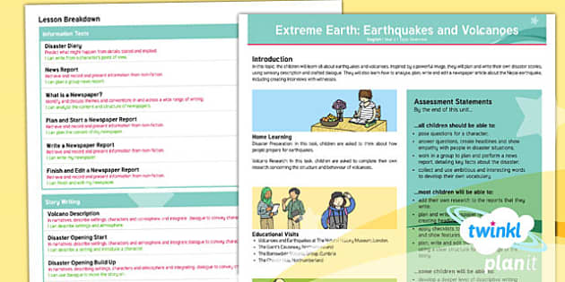Extreme Earth: Earthquakes and Volcanoes Topic Overview