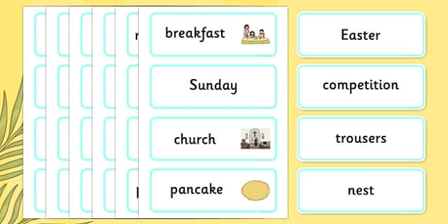 It Is Easter Time Word Cards - Christian, festival, celebration, church, religious education, RE