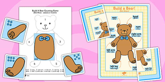 Build A Bear Counting Game Resource Pack Polish Translation - bear, teddy, game, activity, count, counting, maths, numeracy, number, Polish, translated