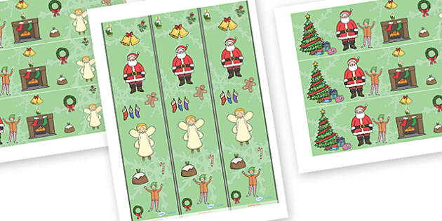 Christmas Display Borders - Christmas, xmas, Display border, classroom border, tree, advent, nativity, santa, father christmas, Jesus, tree, stocking, present, activity, cracker, angel, snowman, advent , bauble