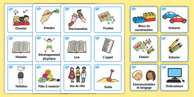 Visual Timetable Nursery FS1 French - french, Daily Routine, Visual Timetable, SEN, Daily Timetable, School Day, Daily Activities, Foundation Stage