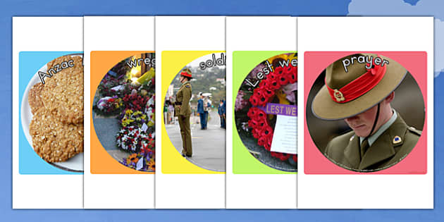 Anzac Day Display Photo Cut Outs - anzac day, anzac, cutouts