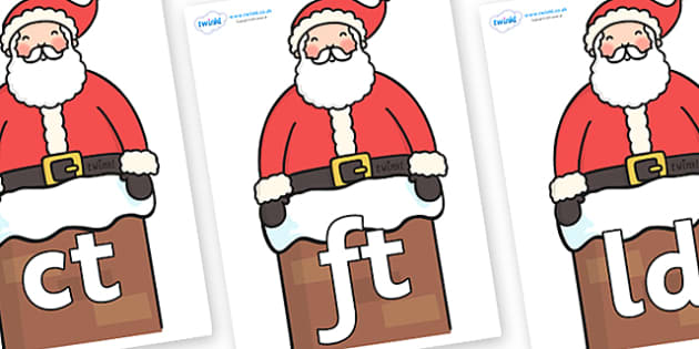 Final Letter Blends on Santa (Chimney) - Final Letters, final letter, letter blend, letter blends, consonant, consonants, digraph, trigraph, literacy, alphabet, letters, foundation stage literacy