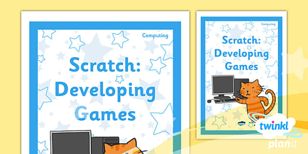 PlanIt - Computing Year 5 - Scratch Unit Book Cover - planit, computing, year 5, book cover, unit, book, cover, scratch