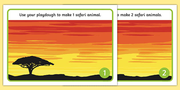 Safari Sunset Playdough Mats