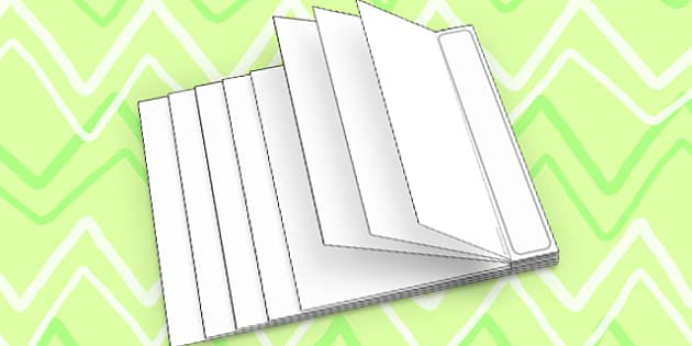 Interactive Notebook Staggered Book - paper craft, visual aid