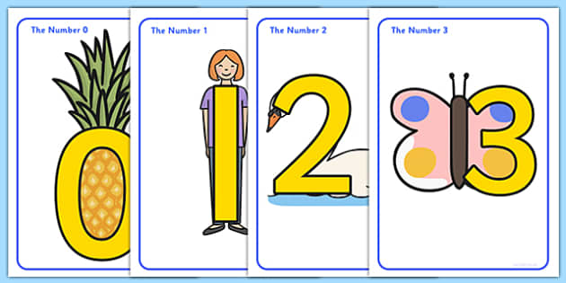 Number Shapes Display Posters - education, home school, free, fun