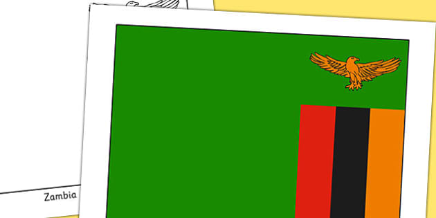 Zambia Flag Display Poster - countries, geography, display