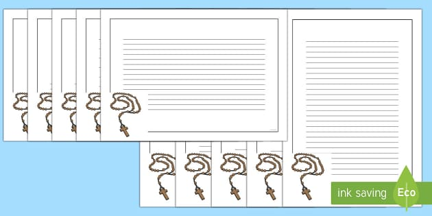 Rosary Page Border Pack - RE Religion Requests, rosary, re, catholic, christianity, christian, writing frame, borders