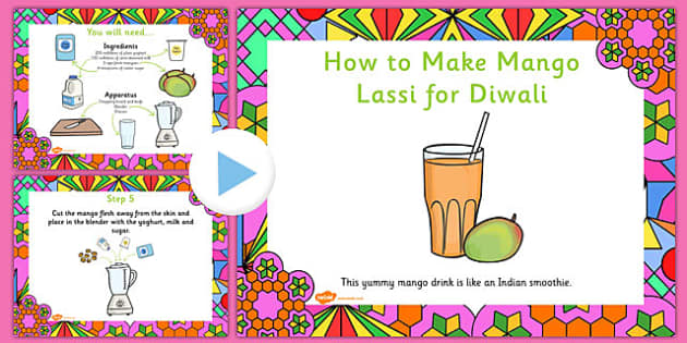 Mango Lassi Diwali Recipe PowerPoint - recipes, cooking, cook