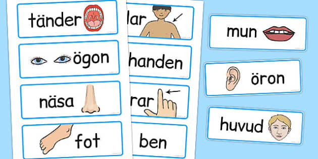 Swedish Colour Word Cards - swedish, colour, word cards, cards