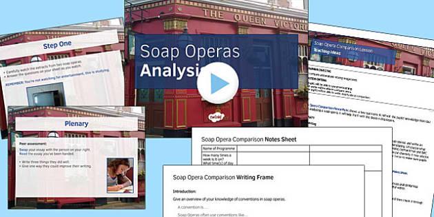 Soap Opera Resource Pack 2: Soap Opera Comparison Lesson Pack - comparison