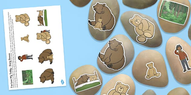 Story Stone Image Cut-Outs to Support Teaching on I've Lost my Teddy, Where Is It?