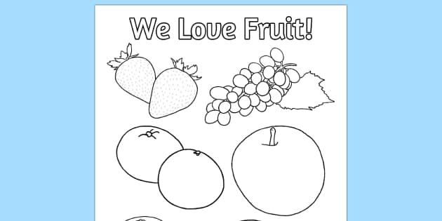 Fruit Colouring Poster - fruit, colouring, poster, activity