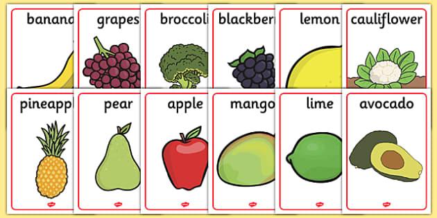 Fruit and Vegetable Display Posters - Display Posters, A4, display, posters, harvest, harvest festival, fruit, apple, pear, orange
