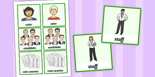 Polling Station Role Play Badges - polling, station, role-play