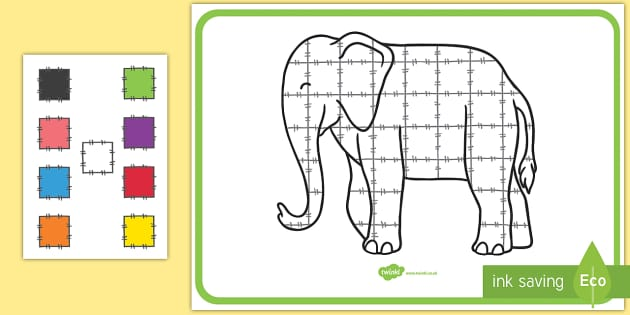 Interactive Large Display Poster - Elmer, David McKee, colour, display, pattern, repeating pattern