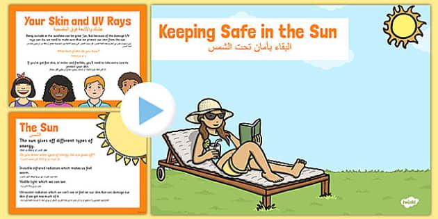 Sun Safety PowerPoint Arabic Translation - arabic, sun safety, powerpoint, sun, safety