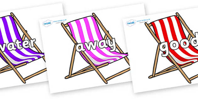 Next 200 Common Words on Deck Chairs - Next 200 Common Words on  - DfES Letters and Sounds, Letters and Sounds, Letters and sounds words, Common words, 200 common words