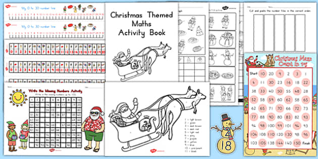 Christmas Maths Pack - australia, christmas, math, pack, activity