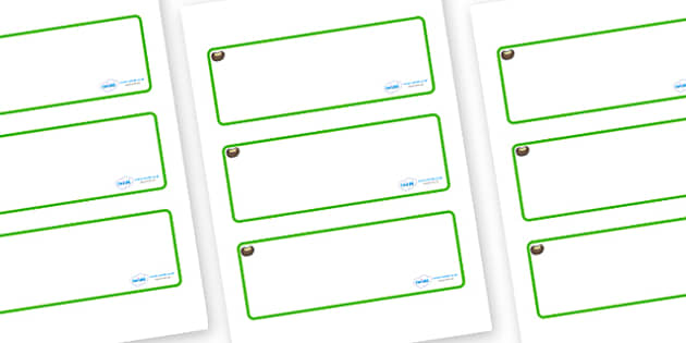 Conker Themed Editable Drawer-Peg-Name Labels (Blank) - Themed Classroom Label Templates, Resource Labels, Name Labels, Editable Labels, Drawer Labels, Coat Peg Labels, Peg Label, KS1 Labels, Foundation Labels, Foundation Stage Labels, Teaching Label