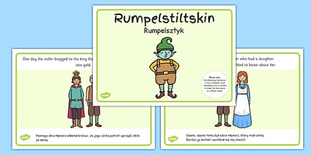 Rumpelstiltskin Story Sequencing A4 Polish Translation - polish, rumpelstiltskin, story, sequencing