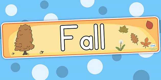 Fall Display Banner - fall, season, weather, fall display, header