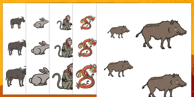 Chinese New Year Story Size Ordering - size ordering, chinese