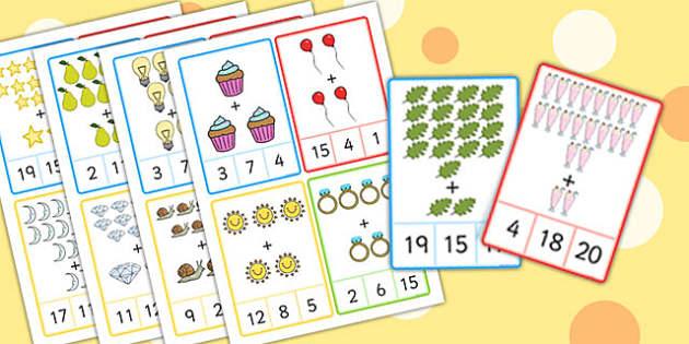 Plus 2 Peg Cards to 20 Images - plus 1, peg, cards, 20, images