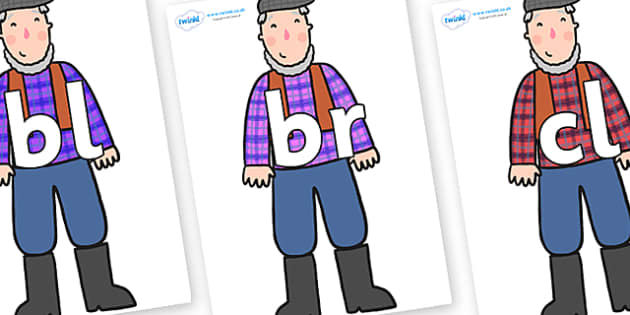Initial Letter Blends on Farmer to Support Teaching on What the Ladybird Heard - Initial Letters, initial letter, letter blend, letter blends, consonant, consonants, digraph, trigraph, literacy, alphabet, letters, foundation stage literacy