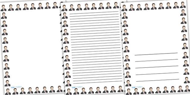 Sebastian Coe Page Borders - sebastian coe, page borders, writing frames, lined pages, writing guide, writing template, themed writing frame, writing aid