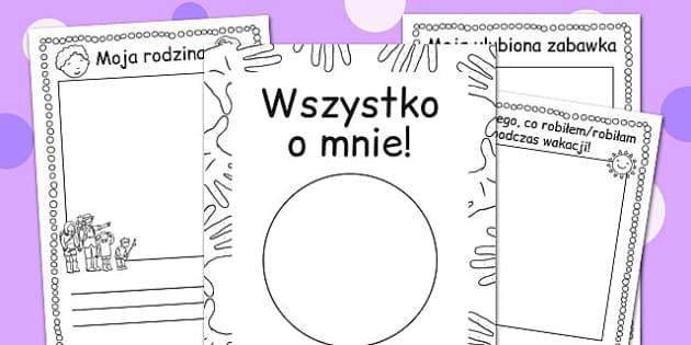 Ksiazeczka Wszystko o mnie po polsku - dzieci , nauczanie , Polish