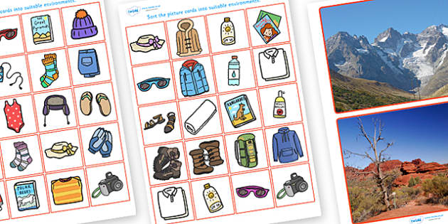 Clothes and Scenarios Sorting Activity - activity, game, fun, fun activity, clothes, scenarios, dressing, travel, different scenarios, sorting activity, clothes sorting activity, clothes for different scenarios, sort the clothes, fun game, learning,