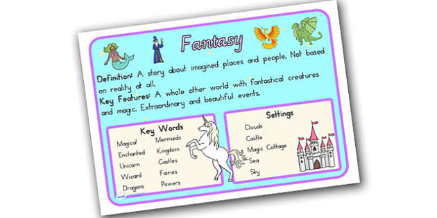 Story Genres Fantasy Display Poster - stories, books, poster