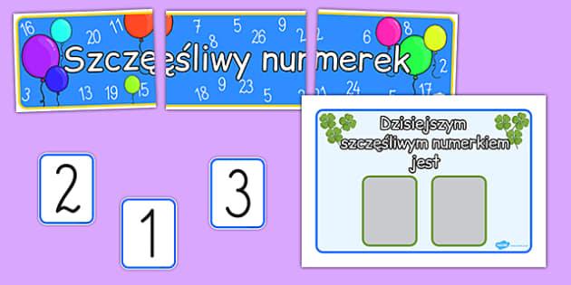 Zestaw Szczęśliwy Numerek po polsku - losowanie numerka
