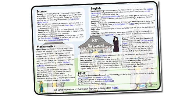 Rapunzel Lesson Plan Ideas KS1 - rapunzel, rapunzel lesson ideas, rapunzel lesson plan, rapunzel lesson planner, mtp, rapunzel mtp, mid term planner, ks1