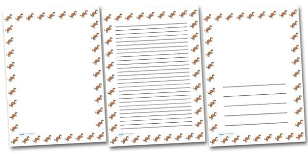 Iguanadon Portrait Page Borders- Portrait Page Borders - Page border, border, writing template, writing aid, writing frame, a4 border, template, templates, landscape