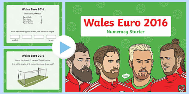 Euro 2016 Numeracy Starter Year 2 PowerPoint-Welsh