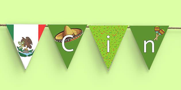 Cinco de Mayo Display Bunting - usa, america, Cinco De Mayo, bunting