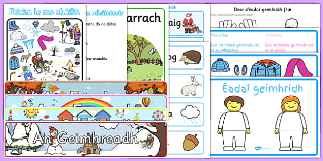 Irish Gaeilge Winter Geimhreadh Resource Pack-Irish
