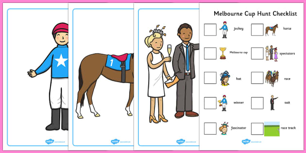 The Melbourne Cup Hunt Activity Pack - australia, melbourne cup, activity